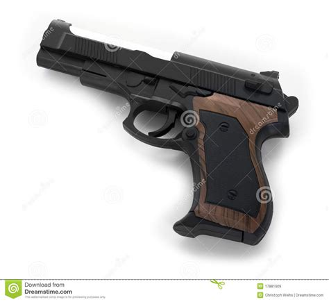 A White With A Criminal Record Is More Likely To Get A Gun On White Background Royalty Free Stock Images Image 17881909