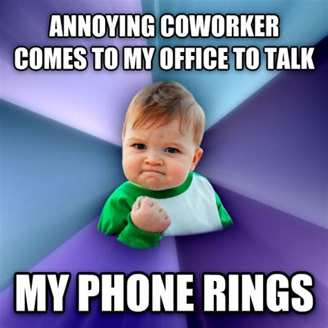 Annoying Coworker Meme - livememe com success kid