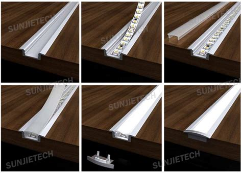 recessed led strip lighting 2508 recessed aluminum led light strip diffuser channel