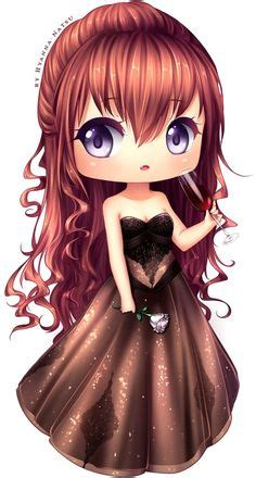 cute anime chibi girl with red hair c stargazer by cherriluu deviantart com on deviantart