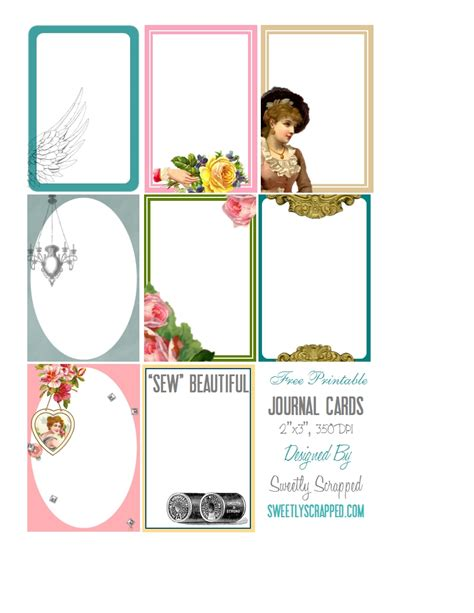 printable art journal sweetly scrapped free printable journal cards