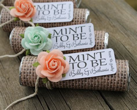 mint wedding favors set of 24 mint rolls mint to