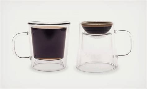 cool espresso cups the double shot is a coffee and espresso mug in one cool