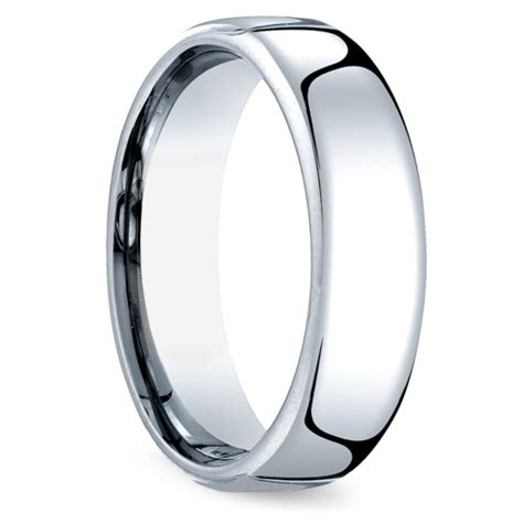 mens comfort fit wedding rings comfort fit men s wedding ring in cobalt 6 5mm image 02