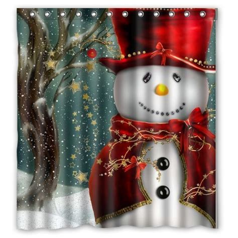 christmas shower curtain set snowman shower curtain sets comfy christmas