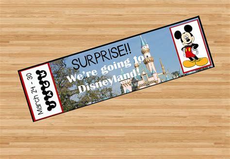 printable cruise tickets printable ticket to disneyland disney world with custom name
