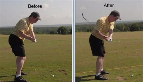 how to stop coming up in golf swing before and afters rotaryswing com