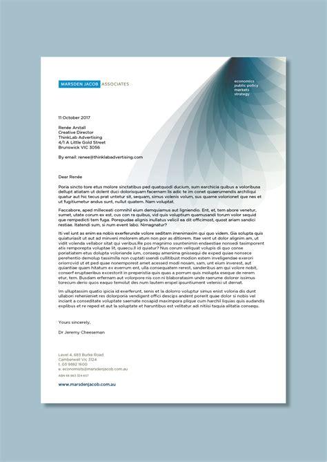 economic public policy consultancy letterhead