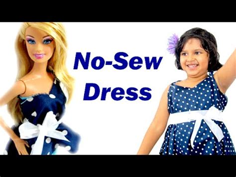 no pattern dress youtube barbie doll dress how to make an easy no sew no sew
