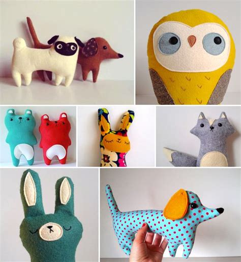 Handmade Soft Toys Free Patterns - best 25 felt stuffed animals ideas on felt