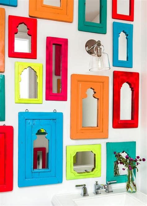 colorful bathroom mirrors collection of colorful mirrors over pedestal sink