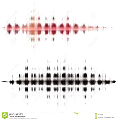 Square Meter by Halftone Square Vector Elements Vector Sound Waves Stock