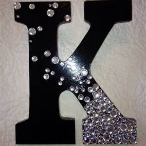 painted wood letter with rhinestones letter ideas