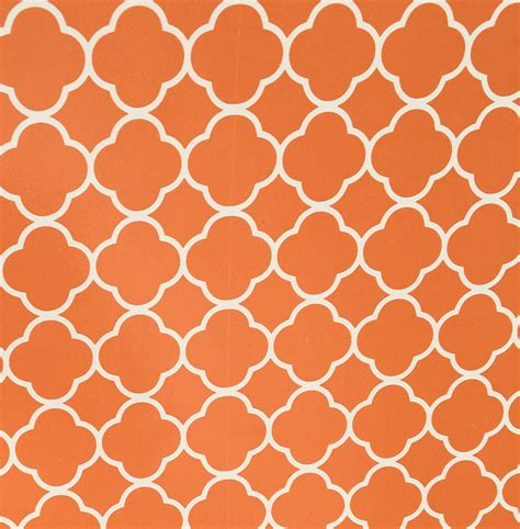 pattern vinyl adhesive light orange quatrefoilf pattern adhesive vinyl