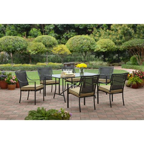 Walmart Patio Dining Set Braddock Heights 7 Patio Dining Set Seats 6 Walmart