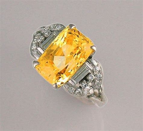antique yellow sapphire engagement rings wedding and