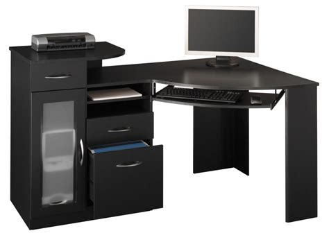 modern black computer desk black computer desks for home to increase productivity