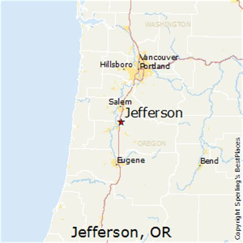 map of jefferson oregon best places to live in jefferson oregon