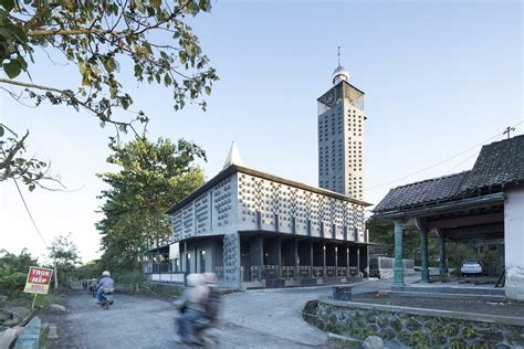 Building A Awning Volcanic Brick Clad Mosque In Kopeng Indonesia Uncube