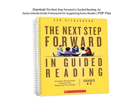 the next step forward in guided reading book the guided reading s companion the next step forward in guided reading an assess decide