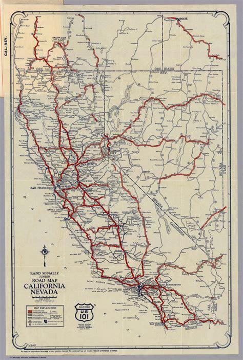highway map of california nevada california map