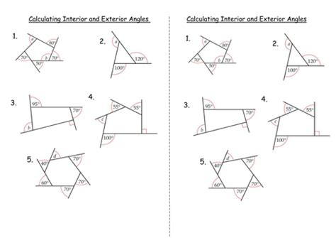 Polygons Exterior And Interior Angles by Interior And Exterior Angles Of Polygons By Clairelogan100