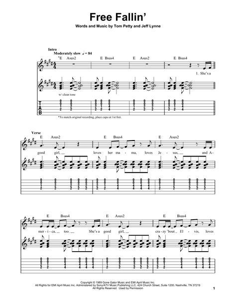 Free Fallin Chords Guitar