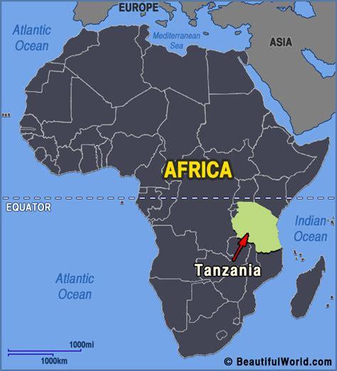 tanzania on the map map of tanzania facts information beautiful world