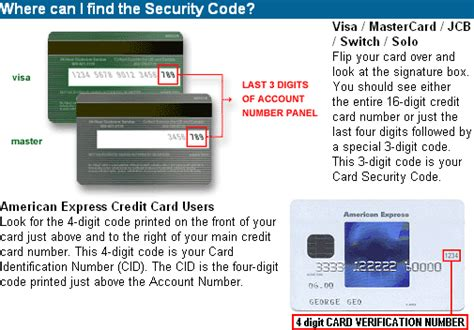 Sle Credit Card Security Code Credit Card Security Code