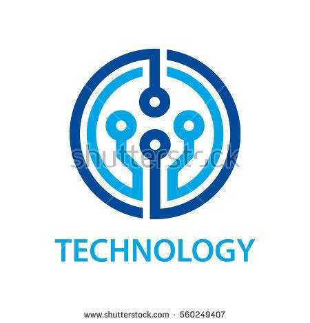 electronic circuit board technology symbol vector stock