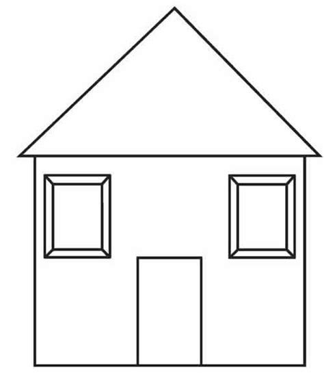 free coloring pages of outline of house 7007
