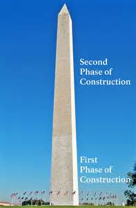 why is the washington monument two different colors frequently asked questions washington monument u s
