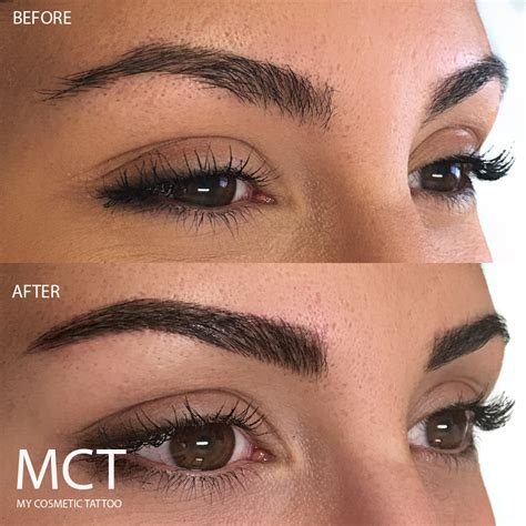 above eyebrow tattoo eyebrow feathering my cosmetic
