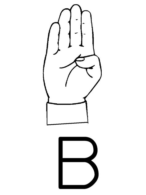 in asl sign language letter b letter of recommendation