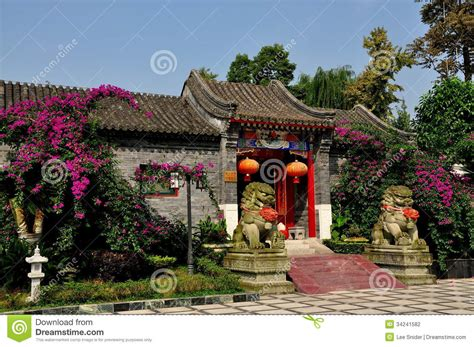 chinese home pengzhou china traditional chinese house editorial