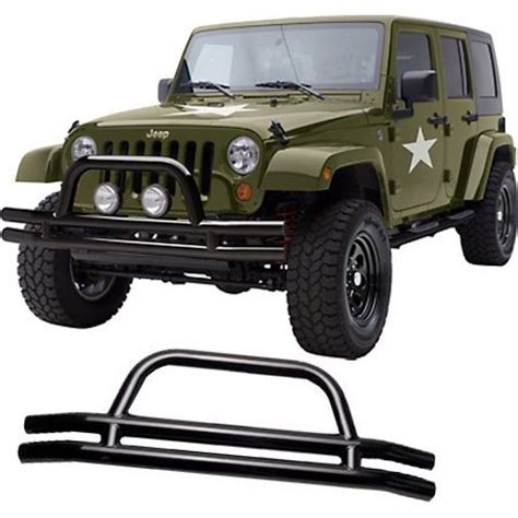 Jeep J7 Smittybilt Bumper Front Steel Black Powdercoated Jeep