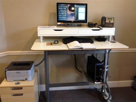 Standing Laptop Desk Ikea Billsta Bar Table Into Standing Work Station Ikea Hackers Ikea Hackers