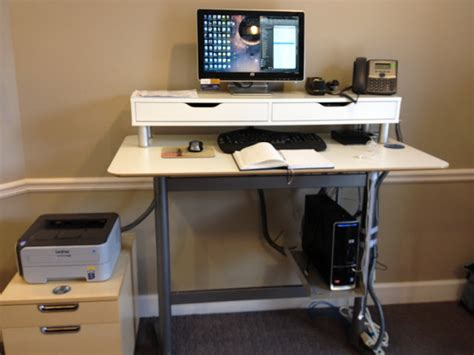 ikea fredrik standing desk billsta bar table into standing work station ikea