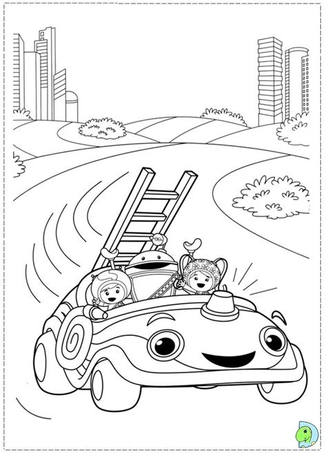 umizoomi car coloring pages umizoomi coloring page dinokids org