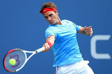 tennis swing roger federer swings his wilson pro staff tennis racket