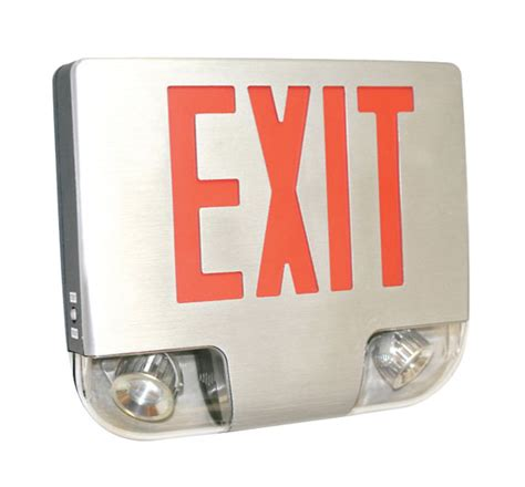 exit sign light combo ledalux 174 lighting exit signs combo exit lighting