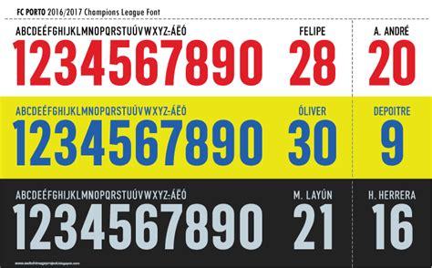 Custom Font Nameset Italy 2018 chions league font fc porto 2016 17 timix patch