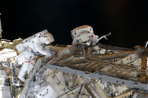 science rubber sts space shuttle astronauts in race against time to fix
