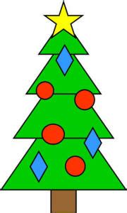 Christmas tree shapes practice craft