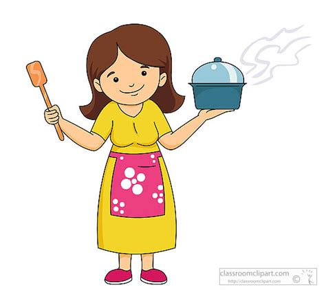 black and white clipart woman cooking clip art library