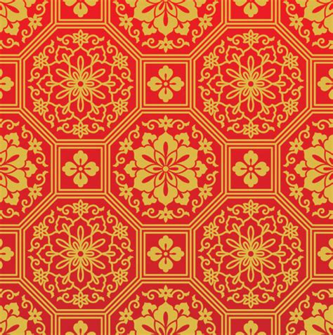 chinese pattern fabric vector chinese red patterns or motif vector free vector graphics
