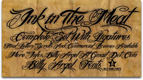 tattoo fonts billy argel ink in the font fonts