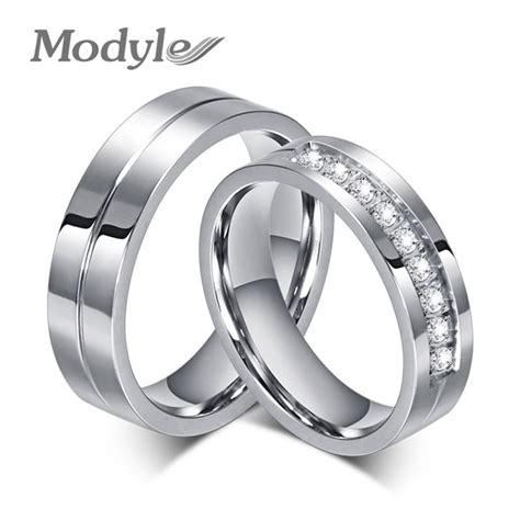 aliexpress wedding rings modyle 2017 new cz wedding rings for women men silver