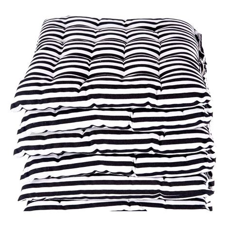 black and white bench cushion seat pads for dining chair black and white cotton garden