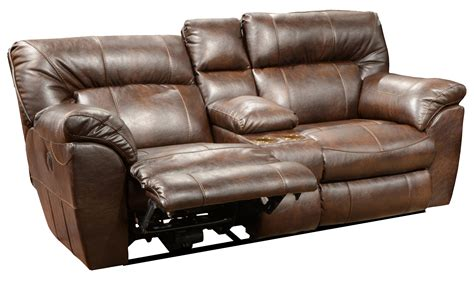 Console Loveseat Recliners by Nolan Power Wide Reclining Console Loveseat With